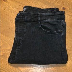 Two pair of black zara skinny jeans size 12